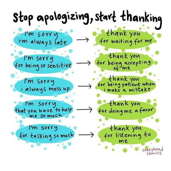 we all know an excessive apology giver, and if you don't, you're probably that person in your friend group haha. you obviously need to…