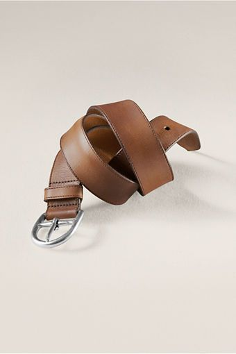 Women's Classic Leather Belt from Lands' End Canvas