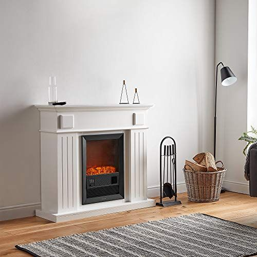 Vonhaus Electric Fireplace Suite 2kw Fire Place With Wall Surround 7 Day Timer Adjustable Le Fireplace Suites Electric Fireplace Suites Electric Fireplace
