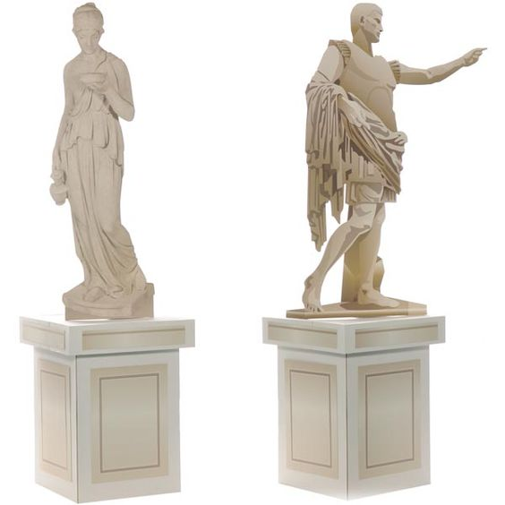 Greek gods statues kit inspiring ideas pinterest for Ancient greek decoration