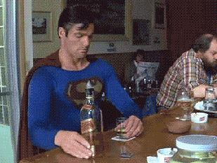 Si toma, no maneje... Superman gif