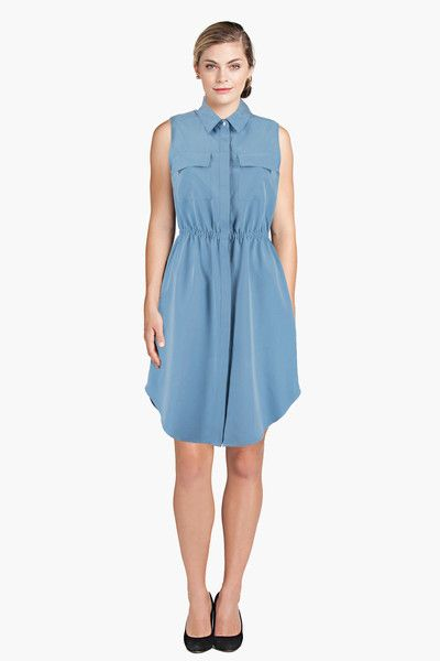 Shirt Dress Blue Of Mercer Front View