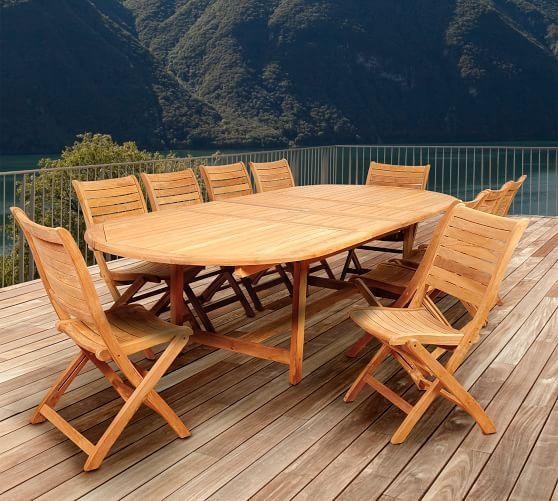 Nassau Extending Teak Oval Dining Table In 2021 Beautiful Outdoor Furniture Teak Patio Furniture Patio Dining Set