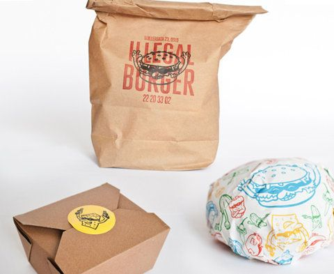 Illegal Burger : Lovely Package . Curating the very best packaging design.