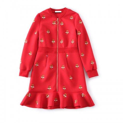 Sukienka Czarna Mini Bufki Kropeczki Romantyczna Fashion Coat Peacoat
