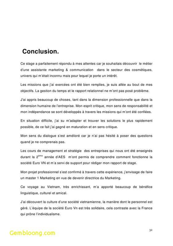 15 Conclusion Rapport De Stage Bac Pro Identite Comtoise Rapport De Stage 3eme Modele De Rapport Stage