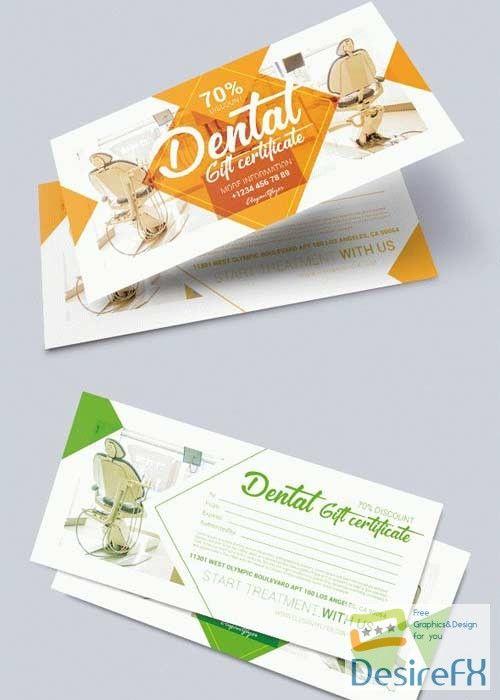 Download Dental V1 2018 Premium Gift Certificate Psd Template Desirefx Com Gift Certificate Template Voucher Design Unique Restaurants