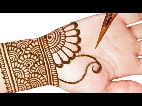 front mehndi design easy and beautiful half hand