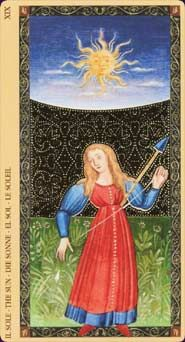 Example card from the Golden Tarot of the Renaissance deck. DISCOVER MORE: http://www.tarotacademy.org/golden-tarot-of-the-renaissance-estensi-tarot-english-and-spanish-edition/