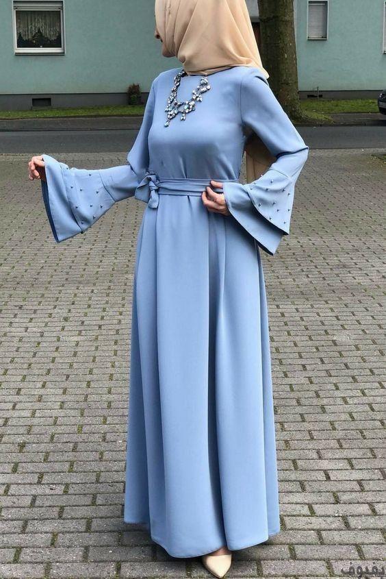 فساتين خروج للمحجبات أجمل فساتين خروج للمحجبات موضة 2020 بفبوف Muslim Fashion Outfits Abayas Fashion Muslimah Dress