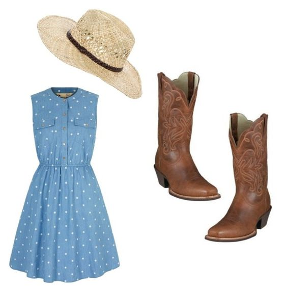 """Cowgirl"" by karinaleclair on Polyvore featuring Yumi, women's clothing, women, female, woman, misses and juniors"