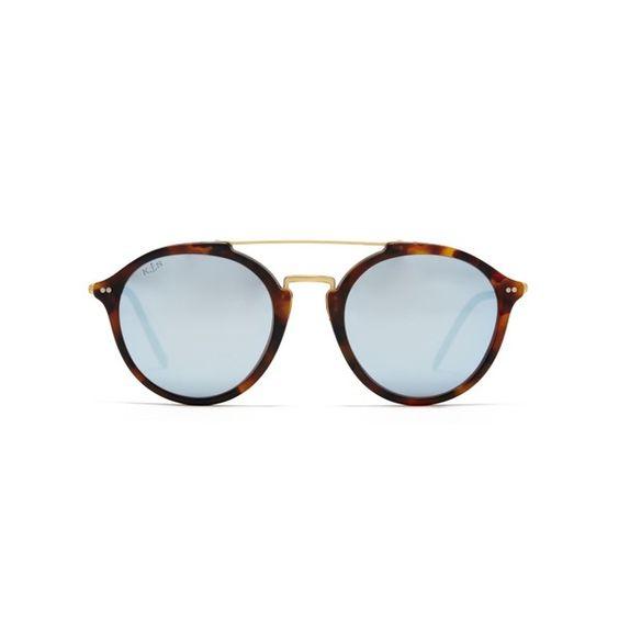 Kapten & Son Sunglasses Fitzroy Matt Tortoise Blue Mirrored S