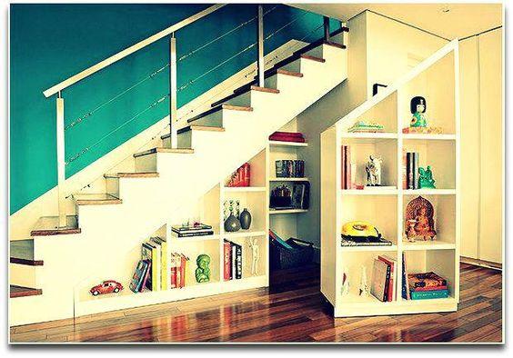 Mueble movil bajo escalera bajo escaleras pinterest - Muebles en escalera ...