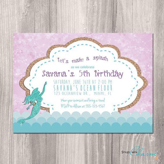 Mermaid Invitations Birthday for amazing invitations ideas