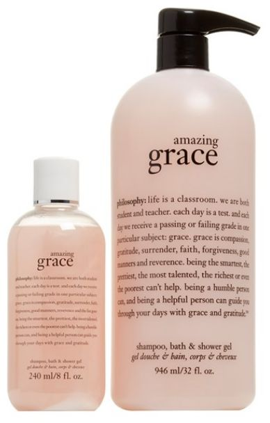 Philosophy 'amazing grace' shampoo, shower gel and bubble bath duo