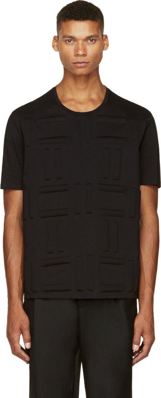 BALENCIAGA Black Fleece Embossed T-Shirt. #balenciaga #cloth #t-shirt