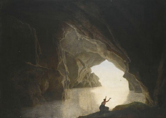 Joseph Wright - Cave at Evening