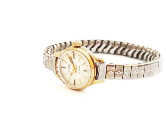 Vintage Russian Gold Plated Lady's Watch SEKONDA