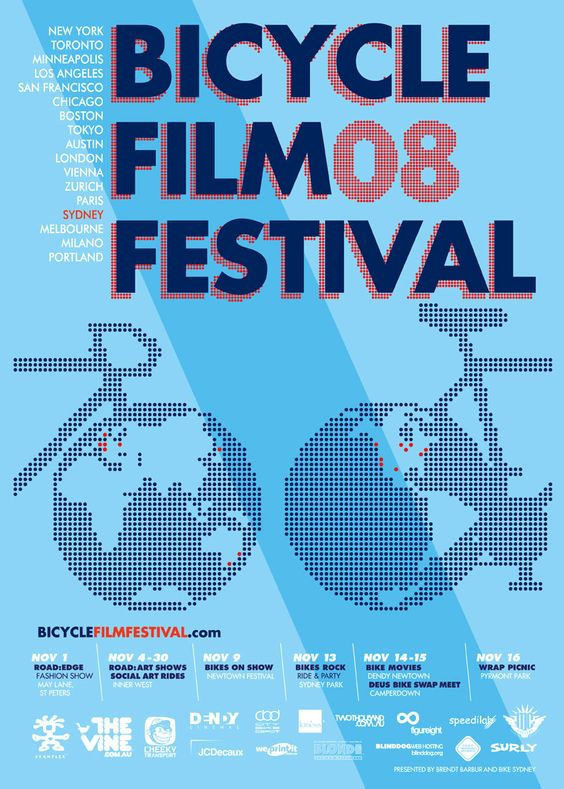 film Festival Posters 18: Festivals Events, Festival S Posters, Film Festivals, Film Festival Posters, Film Festival S, Bicycles Cycling, Festivals Concerts