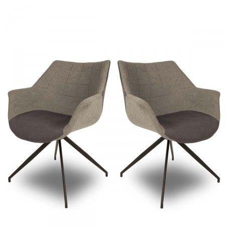 Lot de 2 fauteuils design Doulton