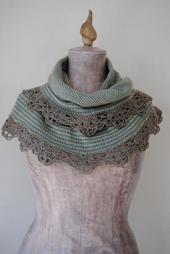 Free Crochet Edging Patterns For Shawls : Pattern Knitted shawl with crochet edging Sednas by ...