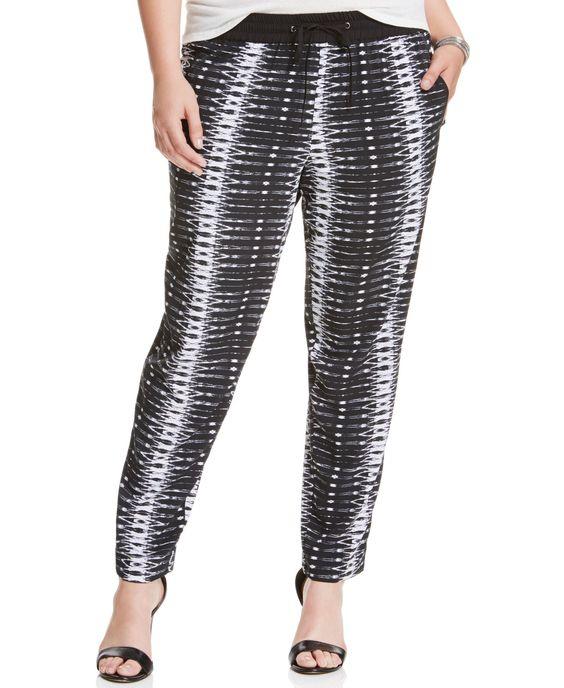 Jessica Simpson Plus Size Geo-Print Soft Pants