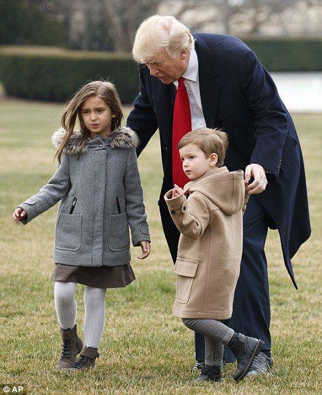 孫とトランプ大統領