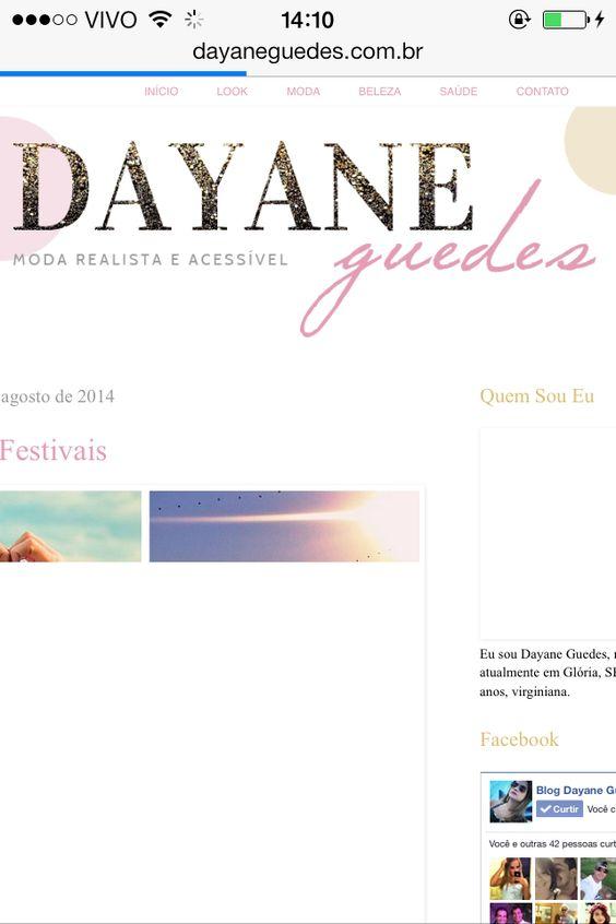 Blog Dayane Guedes  www.blogdayaneguedes.com.br