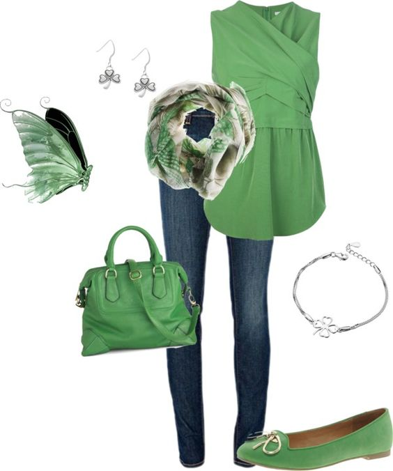 """""""It IS Easy Being Green"""" by allisonmcg99 ❤ liked on Polyvore"""