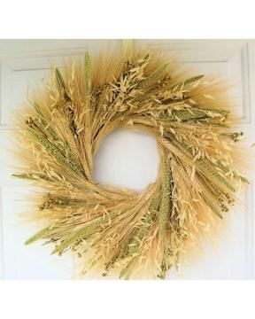I want to know how to make a wheat wreath like this