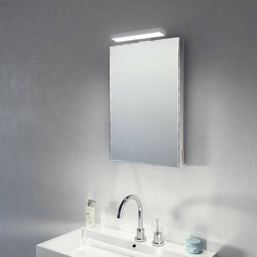 Wade Logan Swarttz Fog Free Bathroom Vanity With Shaver Socket Mirror Cabinets Bathroom Mirror