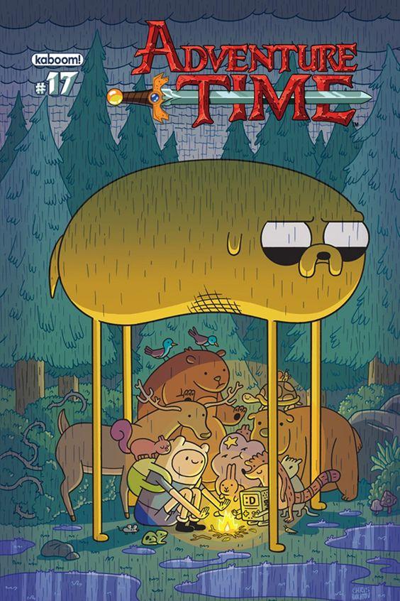 Hora de Aventuras.  Portada del nº 17 USA del comic-book.