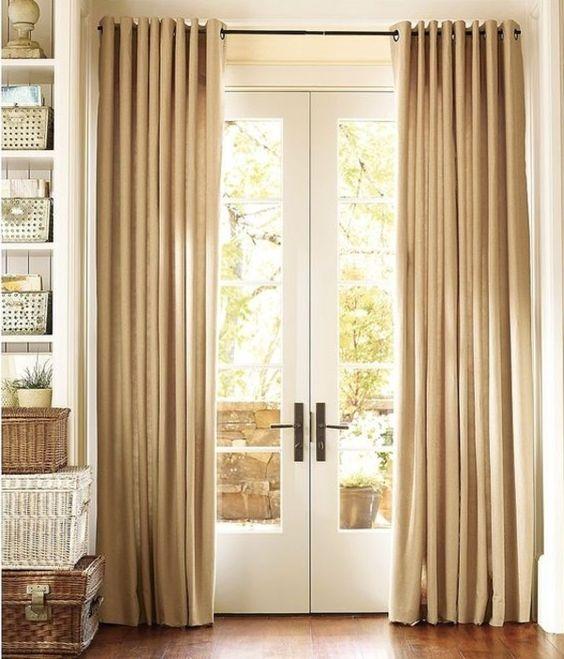 gardinen zur balkontür lang dicht Gardinen Pinterest Fur and - gardine für küche