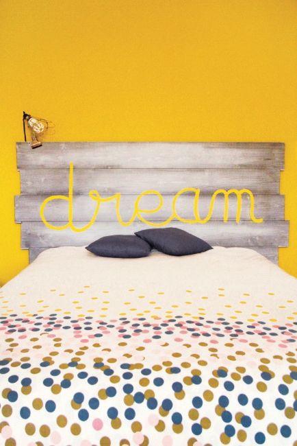 Diy bricolage - Tete de lit facile a faire ...