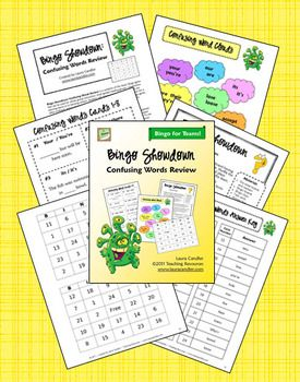 $ Bingo Showdown: Confusing Words Review is a variation of the classic Bingo game that can be used for whole group instruction, small guided reading groups, cooperative learning teams or in learning centers. Students will practice how to use words that are often confused, such as homonyms and contractions. From Laura Candler's Teaching Resources