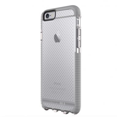 Tech21 Evo Mesh iPhone 6(s) transparant/grijs  SHOP ONLINE: http://www.purelifestyle.be/shop/view/technology/iphone-beschermhoezen/tech21-evo-mesh-iphone-6s-transparant-grijs
