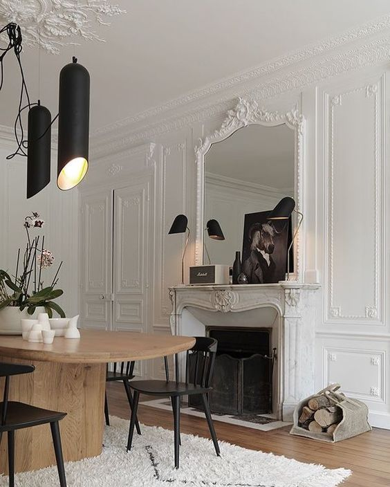 M File Paris Apartment Paris Fireplace Interiordesign