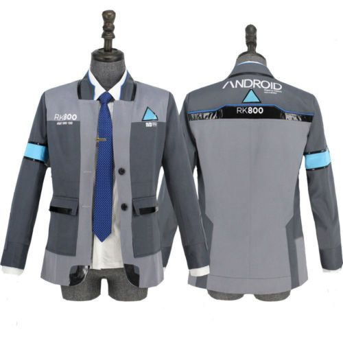 DBH Detroit Become Human Connor RK800 Coat Jacket Outfit Uniform Cosplay Costume