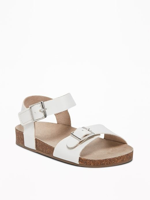 Faux Leather Buckled Strap Sandals For Toddler Girls Old Navy Toddler Girl Shoes Girls Shoes Toddler Girl