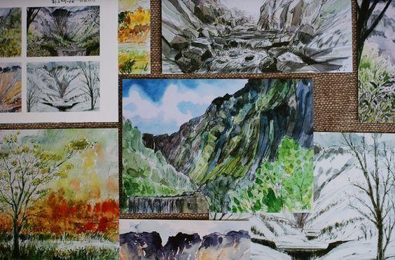 富山県立山町にある称名滝を絵描いたポストカード12枚セットです。落差350mを4段に折れて流れ落ちる雄大な称名の滝と、四季折々に表情を変える称名川の情景を大胆... ハンドメイド、手作り、手仕事品の通販・販売・購入ならCreema。
