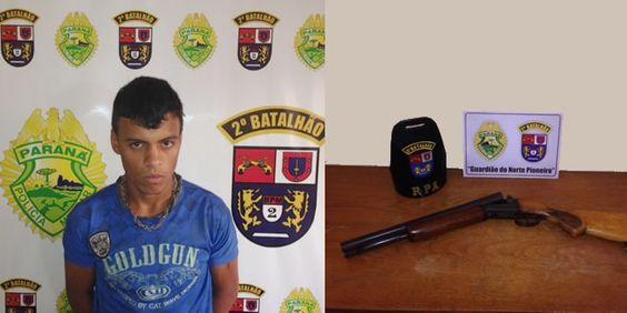 PM prende indivíduo armado com espingarda calibre 12 - http://projac.com.br/policial/pm-prende-individuo-armado-com-espingarda-calibre-12.html