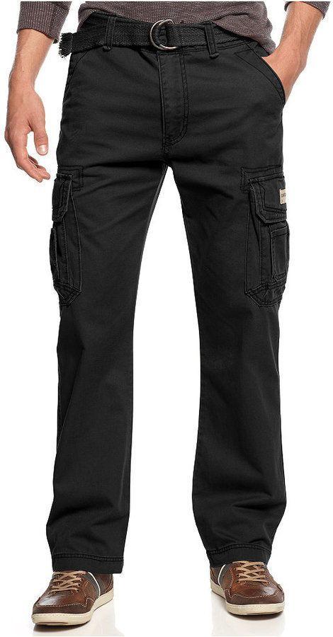 Men's cargo pants, Cargo pants and Black cotton on Pinterest
