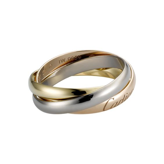 Trinity ring: pink for love, yellow for fidelity, white for friendship.  I truly love this concept!