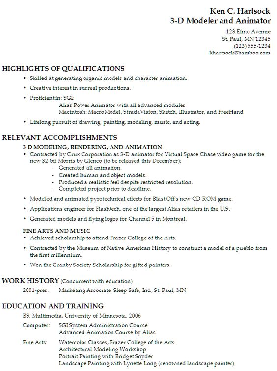 cover letter for 3d animation - Google Search JB cover letter - valet parking resume