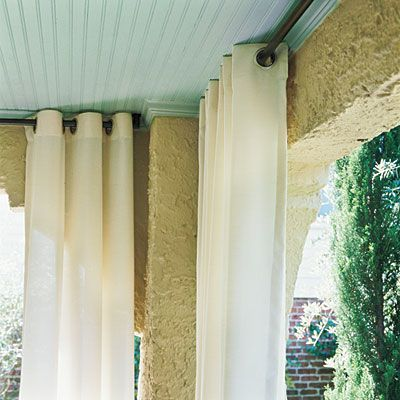 Hang Curtains - Dine Outdoors in Style | Textile company, Curtain ...