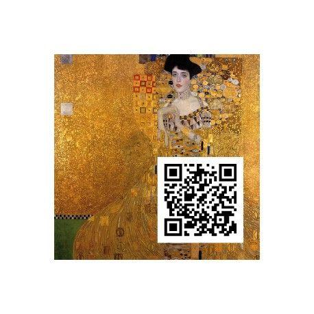 Adele Bloch-Bauer I, Gustav Klimt, QR-Code, QR-Kunstwerk