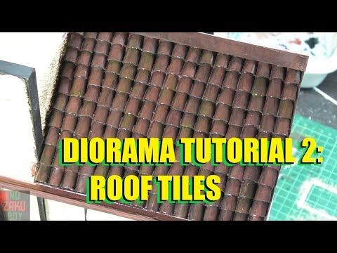 Spanish Barrel Roof Tile 1 35 Scale Silicon Rubber Mould Review Youtube Roof Tiles Roof Diorama