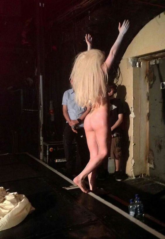Lady Gaga gets naked on stage