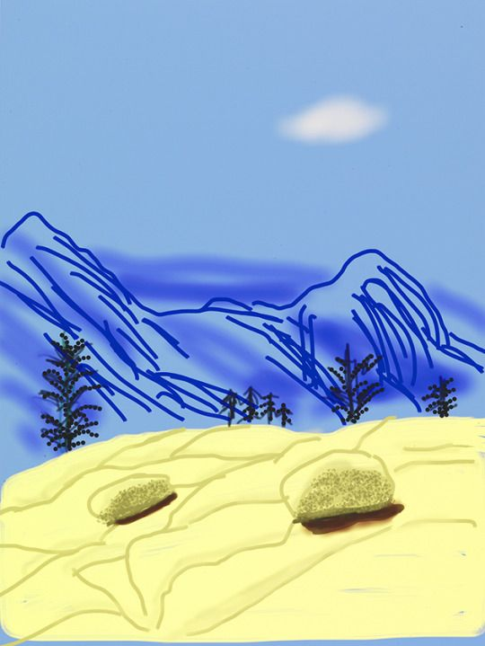 "David Hockney Untitled No. 24"" from ""The Yosemite Suite"", 2010 IPad drawing…"