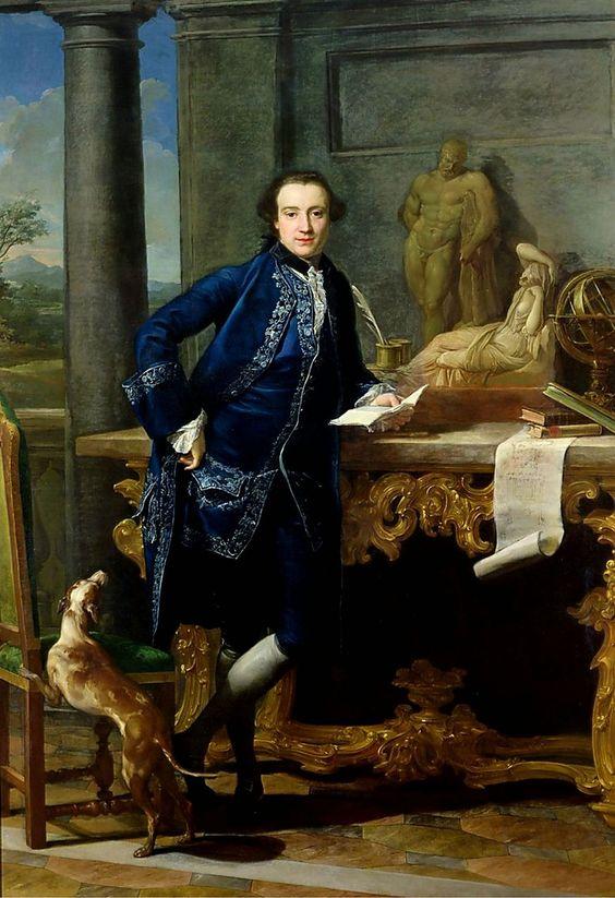 Portrait of Charles John Crowle by Pompeo Batoni: